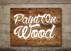 Paint on Wood by Textuts