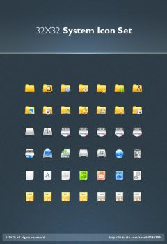 32X32 System Icon Set by aipotuDENG