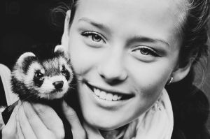 Nastya with Lucky by LinkyQ
