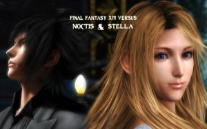 WALLPAPER NOCTIS AND STELLA by RainboWxMikA