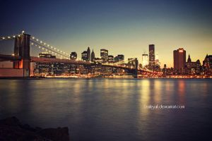 New York - Brooklyn Bridge by DarkSaiF