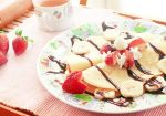 Strawberry Banana Split Crepes by skygazing