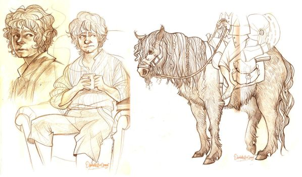 Hobbit sketches 2 by E-boc