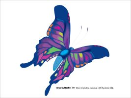 Colorful butterfly by maitram