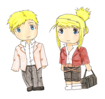 Art Trade: Blonds in parallel worlds by MiriamP