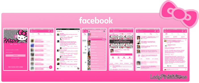 Hello Kitty Facebook for Android by LadyPinkilicious