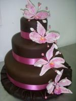 Chocolate Flower Cake by xXx--Kawaii--xXx