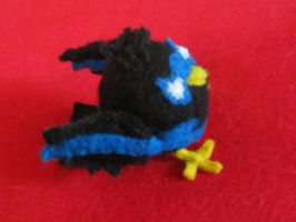 Nightwing Bird Plushy 2 by HELENDRAGON