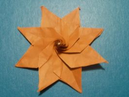 Origami Star Created and folded by me. by OrigamiFolder13