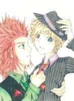 Axel x Roxas--yes, finally by MidKnight-RAINbows