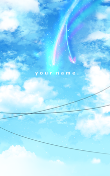 Background practice: Your Name by Laptop-pone