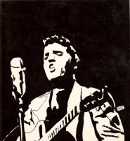 1988 Elvis college art project by Pabloramosart