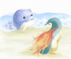 At the Beach by Dianthes