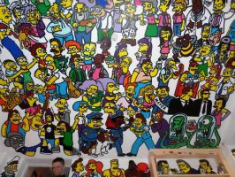 Simpsons Ceiling Mural by Mural-Eyecandy