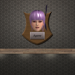 Trophy Plaque - Ayane by DeliciousVGBabes
