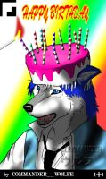 Birthday celebration for a friend by COMMANDER--WOLFE