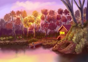 Memorable Lakehouse by vantasyartz
