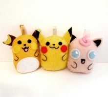 Pokemon Plushies by yael360