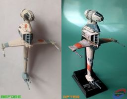 F-Toys B-Wing mod  and repaint by G2ORC