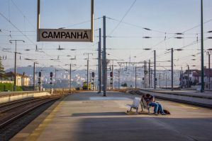Love at Train Station by MiGustae