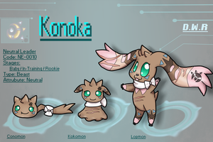 Konoka The Lopmon by MimiTheFox