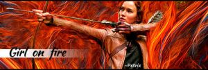 Girl on fire - Hunger Games by 00Petrix00
