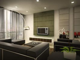Condominium Living Room by Erniez