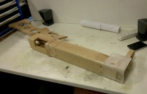 Fallout 3 AER9 Laser Rifle WIP 1 by Thomasotom