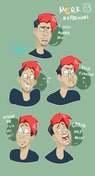 Markiplier face expressions :D by IvaTheHuman