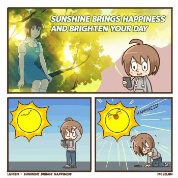 Sunshine brings happiness by mclelun