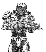 Spartan from Halo wars by NickoTheArtist