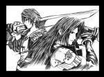 Squall i Sephiroth - Dissidia by Vonki-Diego