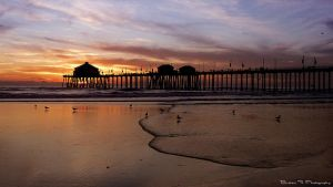 Huntington Beach Pier by rooteanu