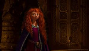 Merida in the Viking Hall by Valfrika