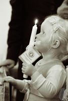 Child with Candle by AfricanObserver