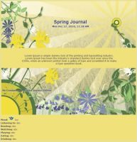 4 Seasons Spring Journal by Vivirmivida