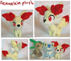 Fennekin gen 6 pokemon plush by scilk