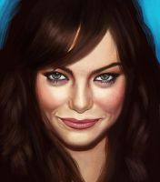 Emma Stone Fan Art by GeorgeLovesyArt