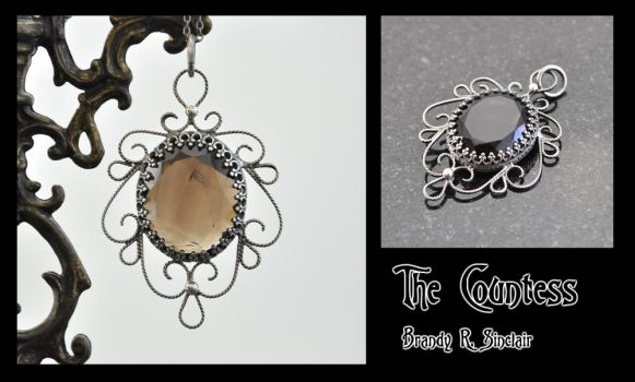 The Countess - Silver Pendant by crazed-fangirl