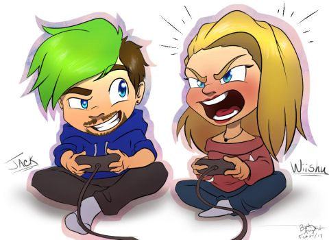 Jack and Wiishu - Little Balls of Anger by BethanyAngelstar