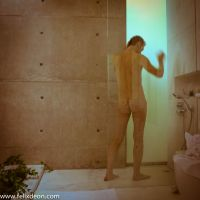 nude male in shower by Felixdeon