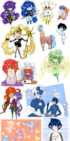 :OCs: chibis and such by BlackMayo