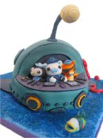 Octonauts Cake -front view by Unfairytales