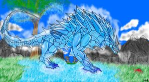 Ice demon dragon finished by Mr-KaMiKaZe