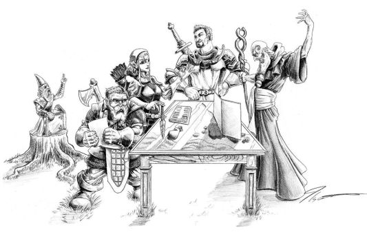 DnD party by KingCorvid