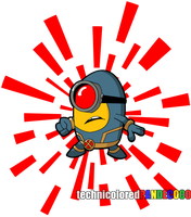 X-Minion Cyclops with Background by jokerjester-campos
