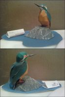 Common Kingfisher Papercraft Finished by rubenimus21