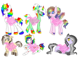 Pony Rainbowdopts CLOSED by PuppyPress-Adopts