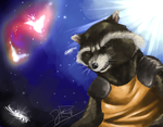 Rocket Raccon by DinoJ-13