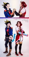 Yugioh 5D's cosplay - Aki and Yusei by Wilkoak